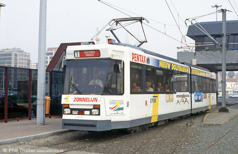 Car 6025 at Ostend on 25th August 1991.