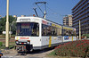 Belgian Coastal tramway car 6024 at De Panne on 31st August 1991. (First published in Light Rail & Modern Tramway, 2/92).