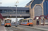 A view of Ostend tram station on 10th August 1990.