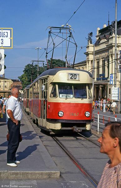 T2 1467 at Hlavní nádraží on 17th August 1992.
