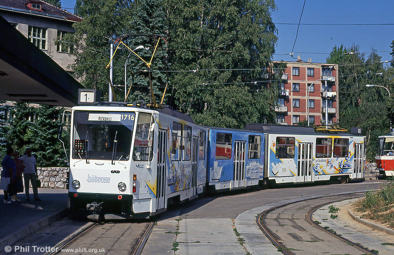 KT8D5 1716 at Terezy Novákové terminus on 17th August 1992.