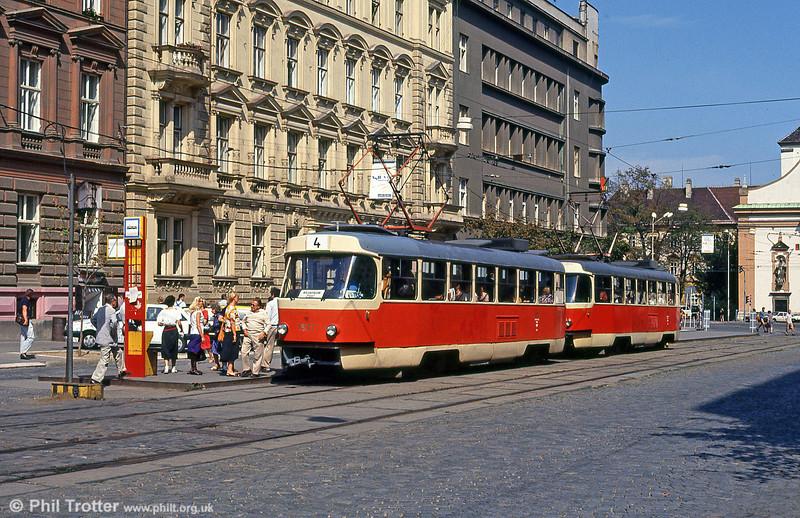 T3 1577 at Joštova on 17th August 1992.