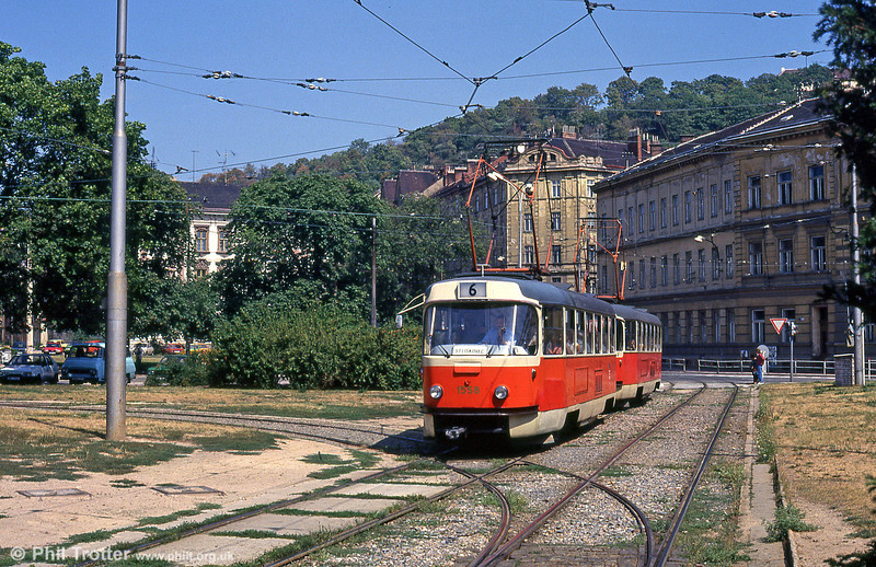 T3 1558 at Mendlovo náměstí on 17th August 1992.
