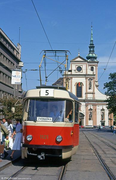 K2 1121 at Joštova on 17th August 1992.