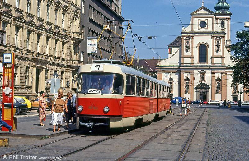 Brno K2 1090 at Joštova on 17th August 1992.