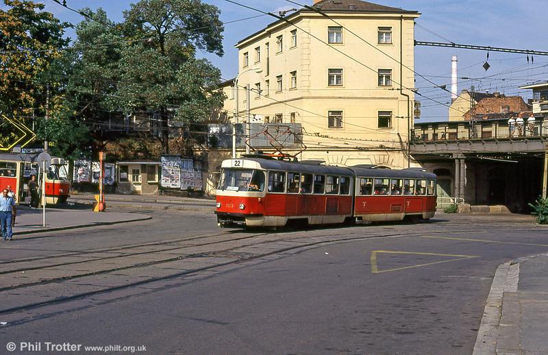 1103 at Hlavní nádraží on 17th August 1992.