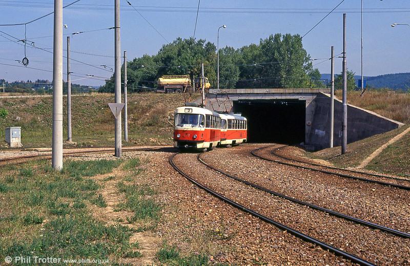 T3 1647 at Bystrc Rakovecká terminus on 17th August 1992.