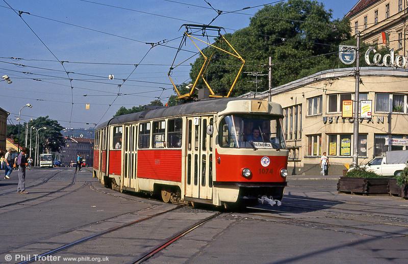 K2 1074 at Hlavní nádraží on 17th August 1992.