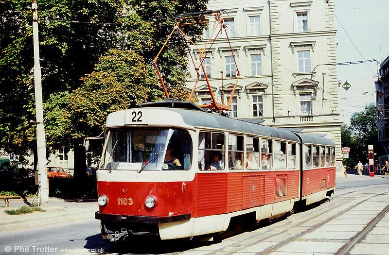 K2 1103 at Joštova on 17th August 1992.