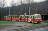 Tatra T3 no. 59 at Horní Hanychov turning circle on 19th April 1993.