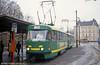 Tatra T3 no. 72 at Fügnerova, on 19th April 1993.