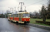 Tatra T3 no. 61 at Horní Hanychov on 19th April 1993.