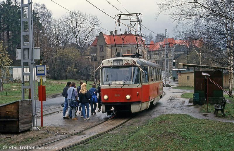 Liberec 44 at Vratislovice on its way back from Jablonec on 19th April 1993.