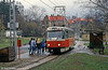 Liberec 44 at Vratislovice on its way back from Jablonec on 19th April 1993.