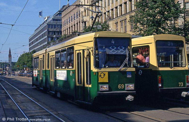 Car 69 at Mannerheimvägen on 1st August 1991.