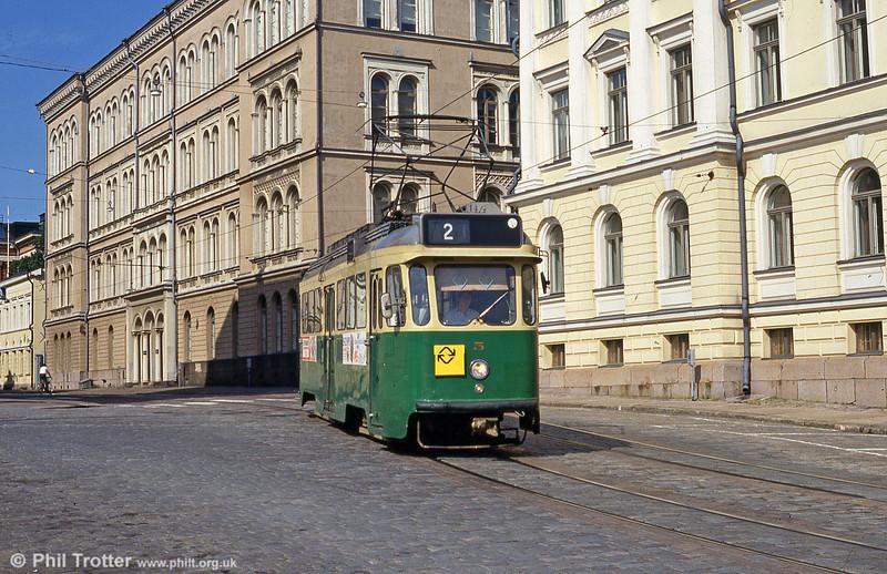 Helsinki car 5 at Senaatintori, 1st August 1991.
