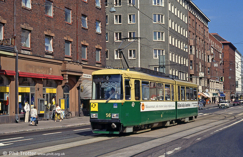 Car 56 in Hämeentie on 1st August 1991.