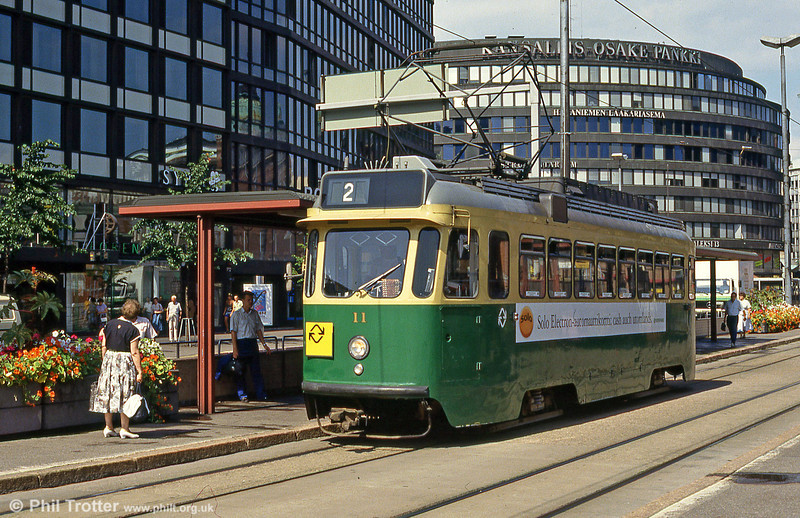Car 11 at Hakaniemi on 1st August 1991.