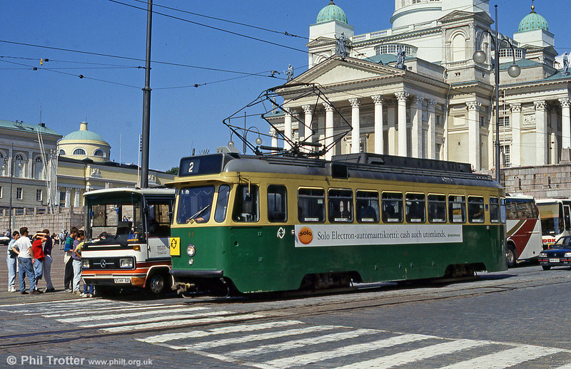 Car 11 of 1959 at Senaatintori, 1st August 1991.