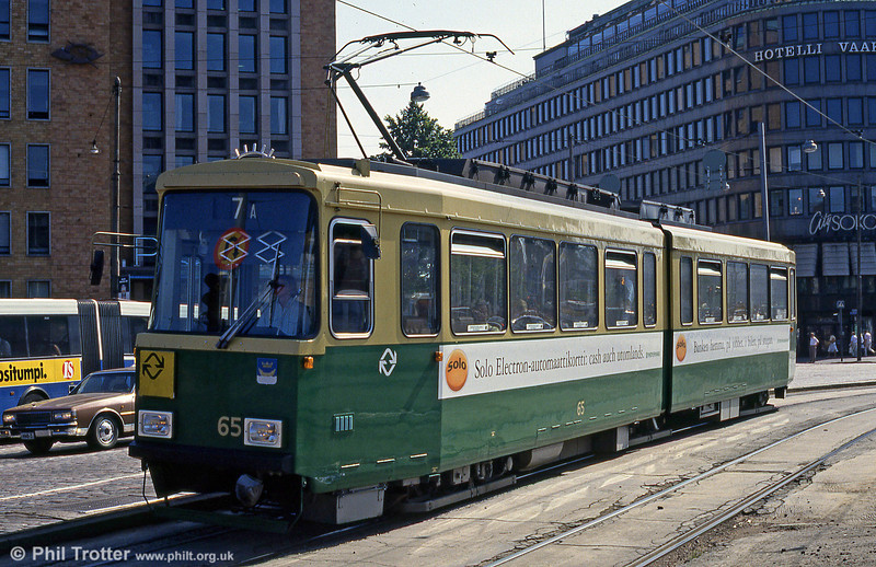 Car 65 at Mannerheimvägen on 1st August 1991