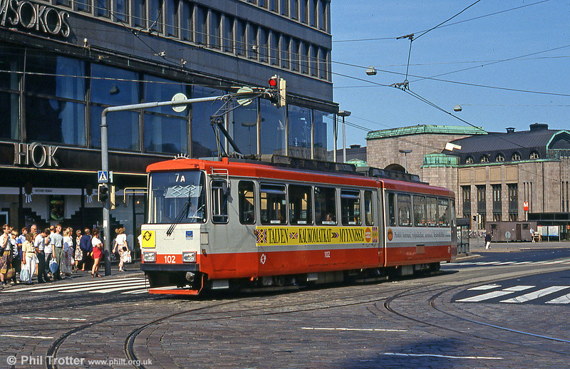 Car 42 at Rautatieasema (Central Railway Station) on 1st August 1991.
