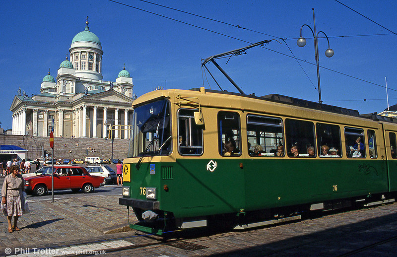Car 76 at Senaatintori on 1st August 1991.
