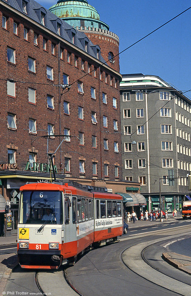 Car 81 at Hakaniemi on 1st August 1991.