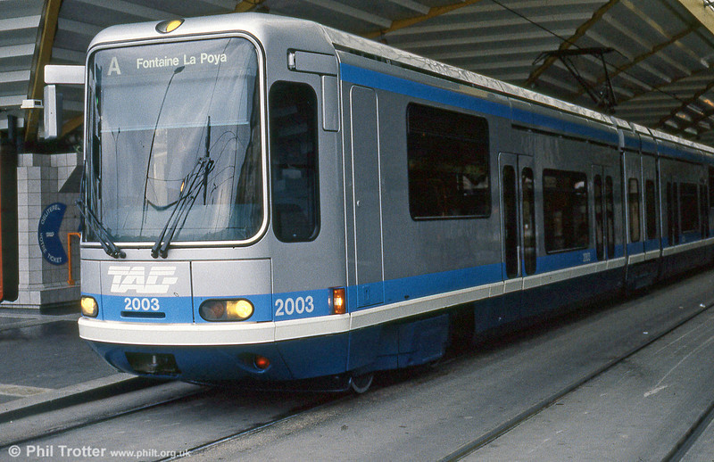 Car 2003 at Grand Place on 2nd September 1989.