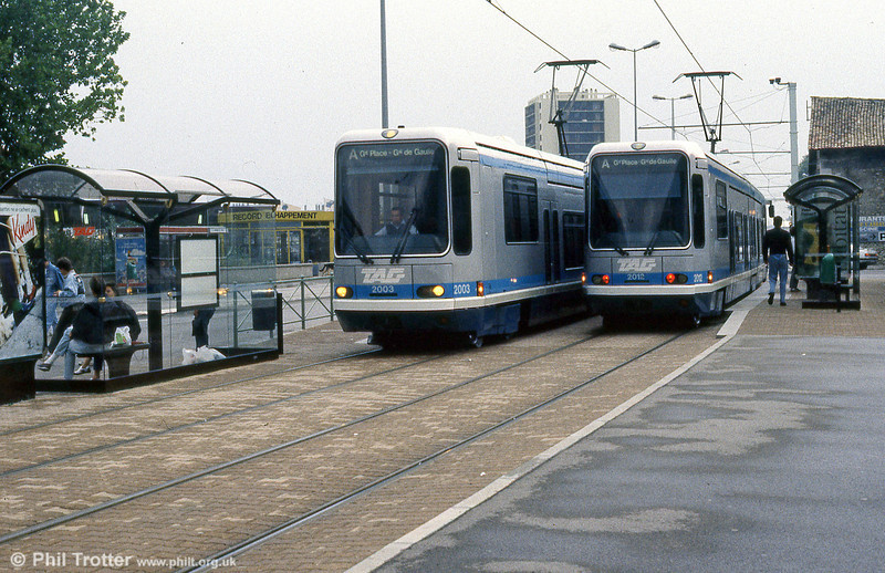 Cars 2003 and 2012 at Fontaine la Poya on 2nd September 1989.