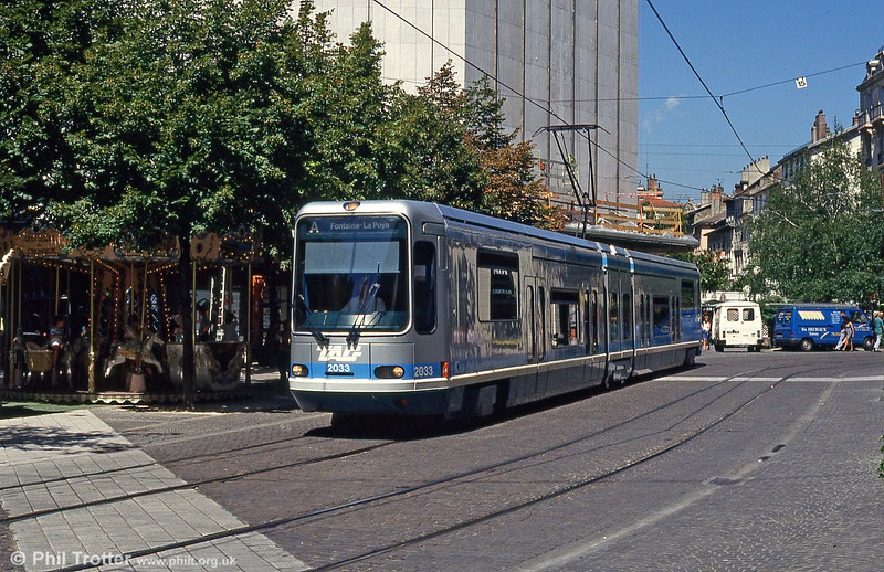 Grenoble 2033 at Rue Felix Poulat on 28th July 1993.