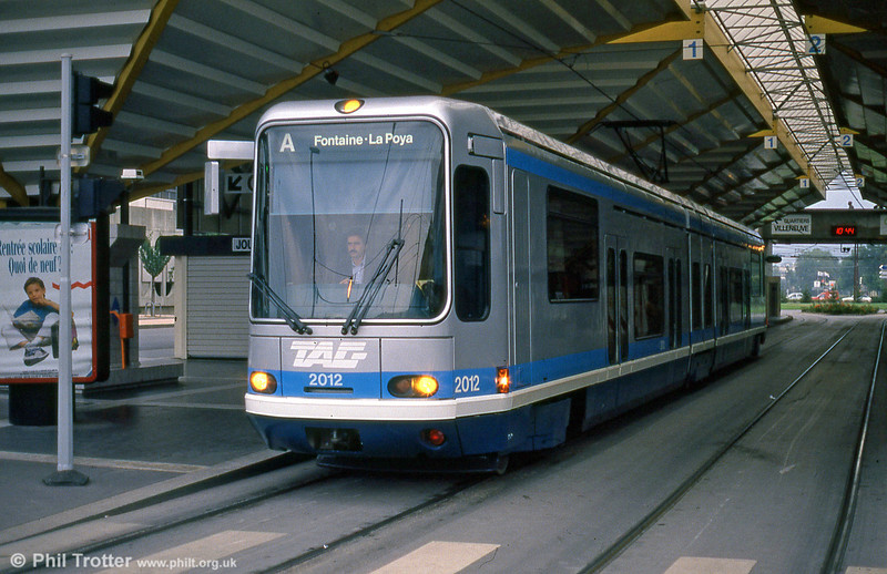 Car 2012 at Grand Place on 2nd September 1989.