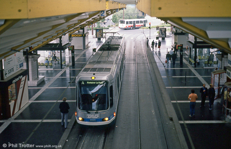 Car 2001 at Grand Place on 2nd September 1989.