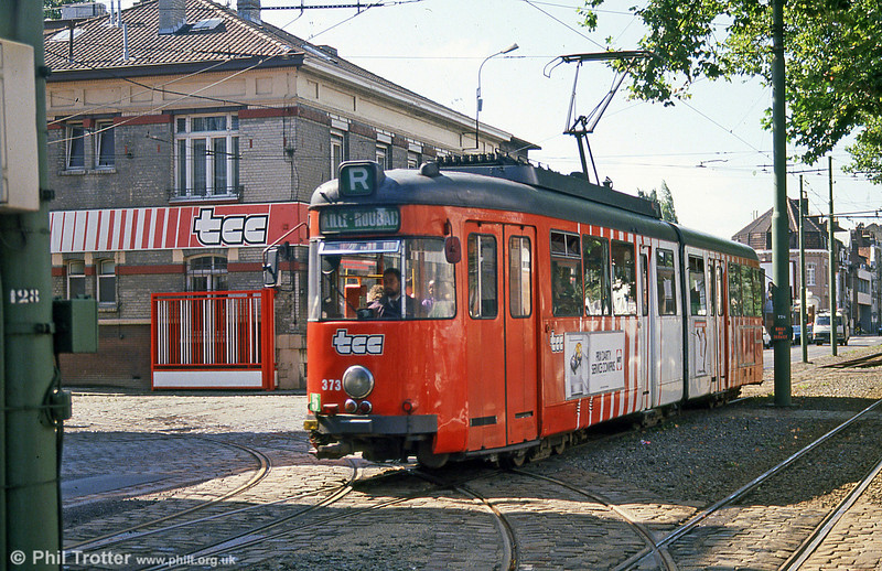 Car 373 at Clemenceau on 28th August 1989.