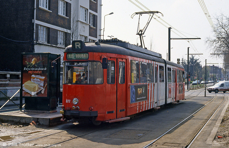 Lille 377 at Croise Laroche on 11th April 1994.