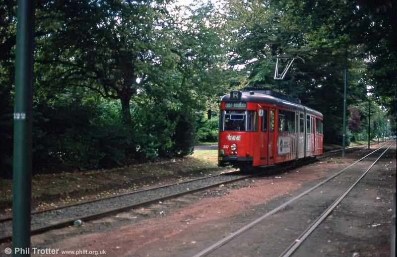 Car 387 at Parc Barbieux on 28th August 1989.