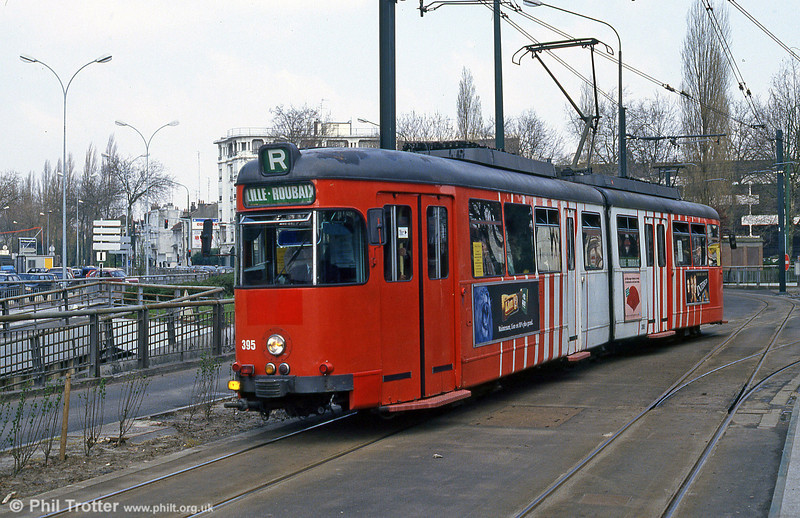 Lille 395 at Croise Laroche on 11th April 1994.