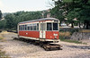 Former Lille TCC car 25 at Lamastre, near the terminus of the Vivarais Railway in July 1984.