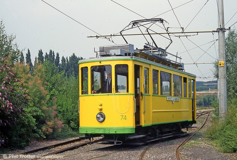 Neuchatel car 74 of 1921 at Marquette-lez-Lille in August 1995.