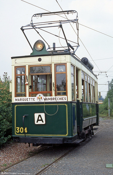 Lille (ELRT/SNELRT) car 304 of 1906 at  Marquette-lez-Lille in August 1995.