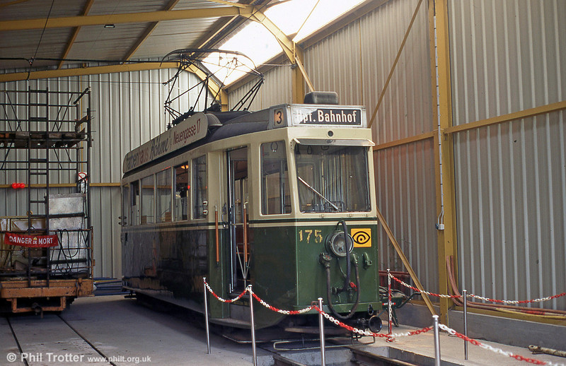 Bern 175 of 1944 awaiting restoration in the AMITRAM depot at Marquette-lez-Lille in August 1995.