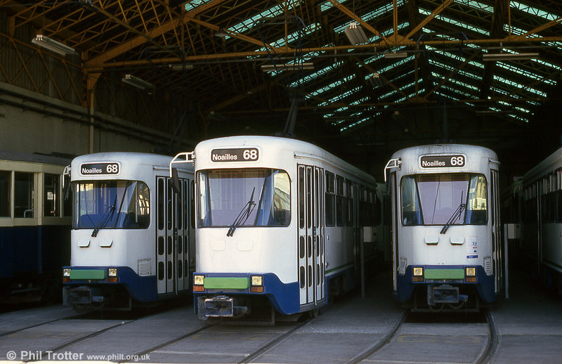 In the summer of 1993, the tramway did not run, with buses taking over services. This depot scene was taken on 27th July 1993.