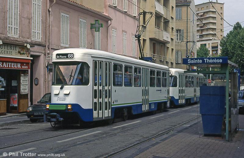 Marseille PCC cars at Sainte-Thérèse in August 1995.