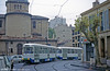 Marseille PCC cars in Boulevard Jean Aicard on August 1995.