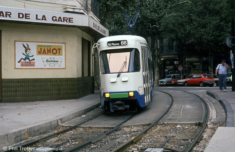 Marseille PCC cars near Place de la Gare de la Blancarde on 1st September 1989.