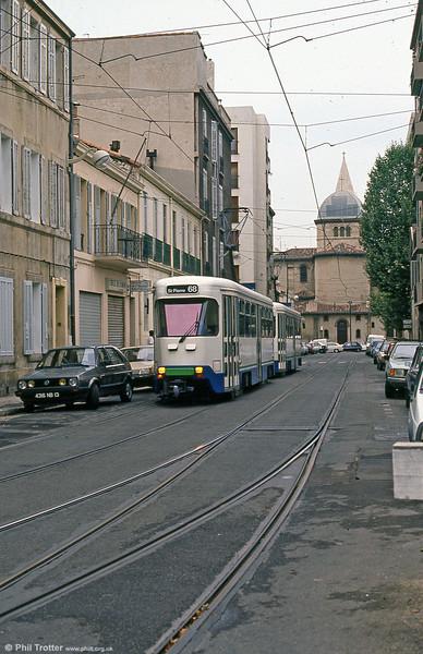 Marseille PCC cars in Boulevard Jean Aicard on 1st September 1989.