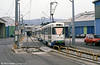 Two PCC cars pass St. Pierre depot on 1st September 1989. The terminus is in the background.