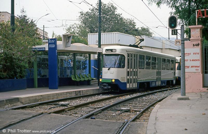Marseille PCC cars at Place de la Gare de la Blancarde on 1st September 1989.