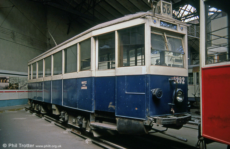 Former Marseille car no. 1292 of 1925 but modernised in 1950. Seen at the erstwhile Paris Transport Museum, St. Mandé in July 1984.