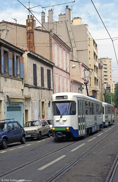 Marseille cars running through the streets of St. Pierre in August, 1995.