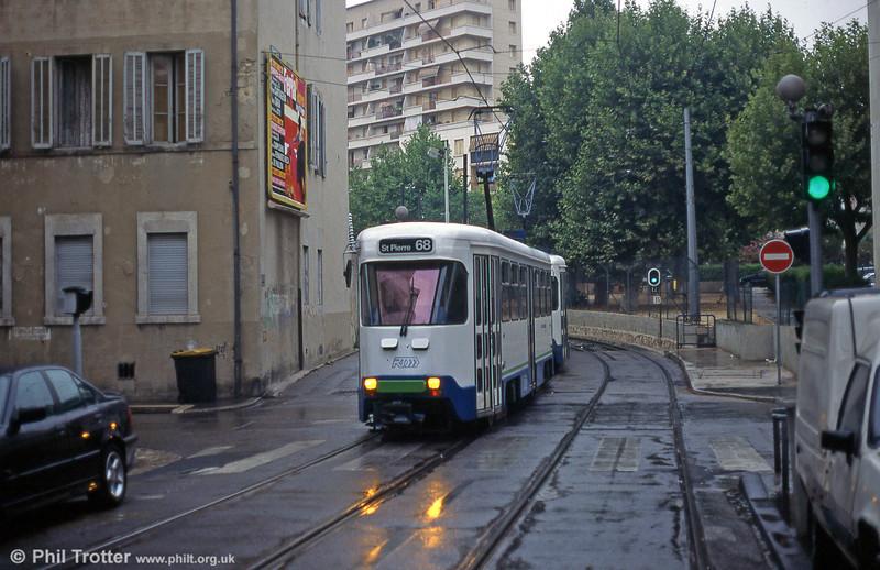 Marseille PCC cars near Sainte-Thérèse in August 1995.